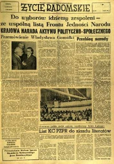 Życie Radomskie, 1956, nr 287