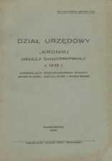 """Dział Urzędowy """"Kroniki Diecezji Sandomierskiej z 1935 r."""""""