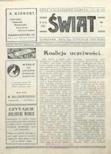 Świat, 1926, R. 21, nr 1