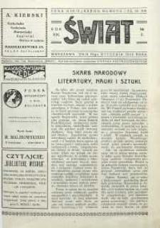 Świat, 1926, R. 21, nr 3