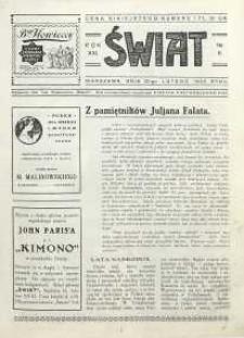 Świat, 1926, R. 21, nr 8