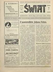 Świat, 1926, R. 21, nr 9