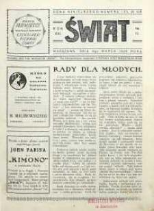 Świat, 1926, R. 21, nr 10