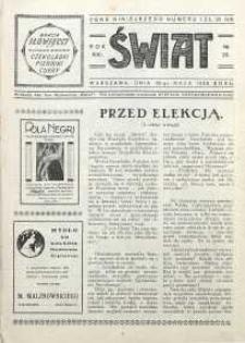 Świat, 1926, R. 21, nr 22