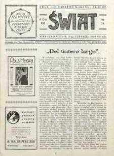 Świat, 1926, R. 21, nr 24