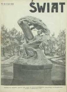 Świat, 1926, R. 21, nr 46