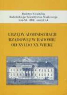 Biuletyn Kwartalny Radomskiego Towarzystwa Naukowego, 2006, T. 40, z. 1-4