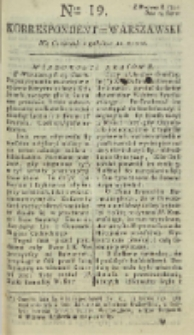 Korrespondent Warszawski, 1792, nr 19