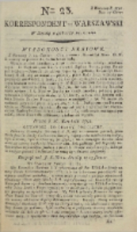 Korrespondent Warszawski, 1792, nr 23
