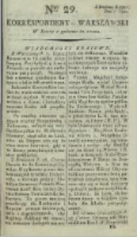 Korrespondent Warszawski, 1792, nr 29
