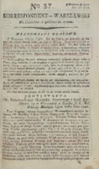 Korrespondent Warszawski, 1792, nr 37