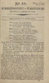Korrespondent Warszawski, 1792, nr 39