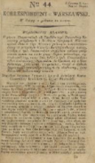 Korrespondent Warszawski, 1792, nr 44