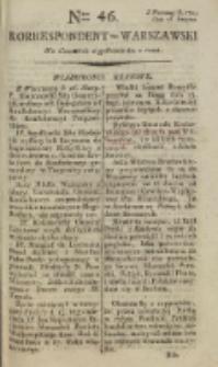 Korrespondent Warszawski, 1792, nr 46