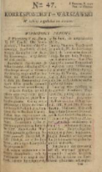 Korrespondent Warszawski, 1792, nr 47
