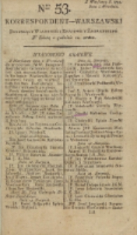 Korrespondent Warszawski, 1792, nr 53