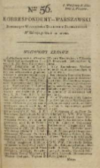 Korrespondent Warszawski, 1792, nr 56