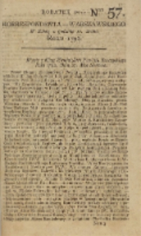 Korrespondent Warszawski, 1792, nr 57, dod