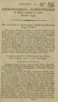 Korrespondent Warszawski, 1792, nr 59, dod