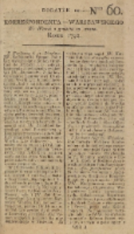Korrespondent Warszawski, 1792, nr 60, dod