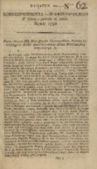 Korrespondent Warszawski, 1792, nr 62, dod