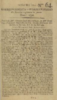 Korrespondent Warszawski, 1792, nr 64, dod
