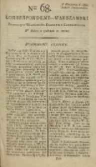 Korrespondent Warszawski, 1792, nr 68