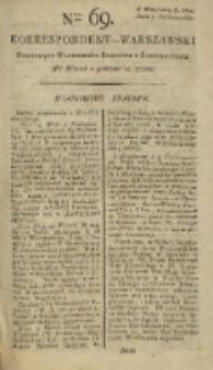 Korrespondent Warszawski, 1792, nr 69