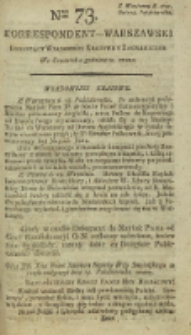 Korrespondent Warszawski, 1792, nr 73