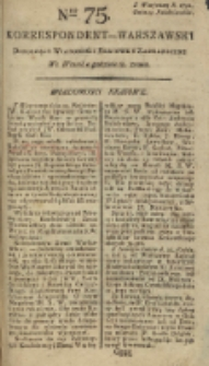 Korrespondent Warszawski, 1792, nr 75