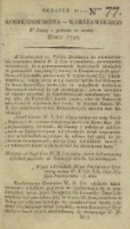 Korrespondent Warszawski, 1792, nr 77, dod