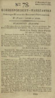 Korrespondent Warszawski, 1792, nr 78
