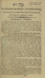 Korrespondent Warszawski, 1792, nr 79