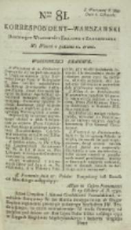Korrespondent Warszawski, 1792, nr 81