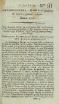 Korrespondent Warszawski, 1792, nr 81, dod