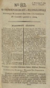 Korrespondent Warszawski, 1792, nr 82