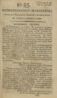 Korrespondent Warszawski, 1792, nr 85