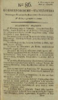 Korrespondent Warszawski, 1792, nr 86