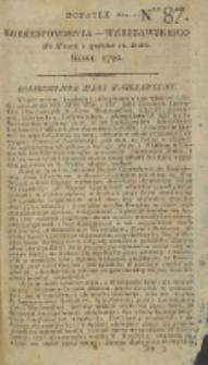Korrespondent Warszawski, 1792, nr 87, dod