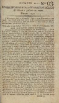Korrespondent Warszawski, 1792, nr 93, dod