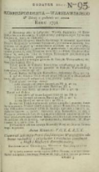 Korrespondent Warszawski, 1792, nr 95, dod