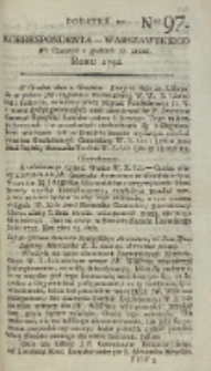 Korrespondent Warszawski, 1792, nr 97, dod