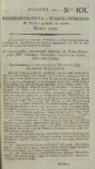 Korrespondent Warszawski, 1792, nr 101, dod
