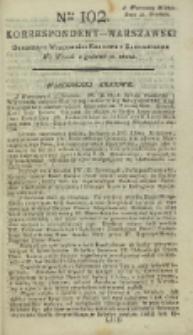 Korrespondent Warszawski, 1792, nr 102