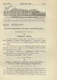 Kronika Diecezji Sandomierskiej, 1933, R. 26, nr 9
