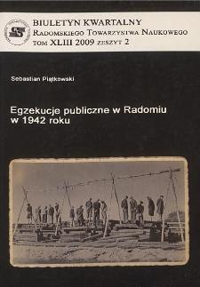Biuletyn Kwartalny Radomskiego Towarzystwa Naukowego, 2009, T. 43, z. 2