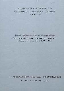 Witold Gombrowicz na rodzinnej ziemi (zestawienie bibliograficzne w wyborze; uzupełnienie za lata 1993-1995)