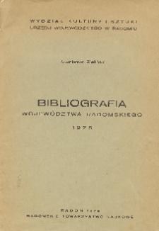Bibliografia wojewóztwa radomskiego 1975