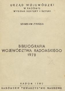 Bibliografia województwa radomskiego 1978