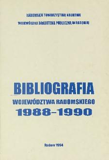 Bibliografia województwa radomskiego 1988-1990